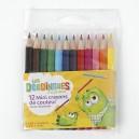 Mini crayons de couleur x12
